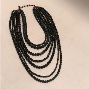 "Natasha Patina 7 Strand Statement Necklace 15"""